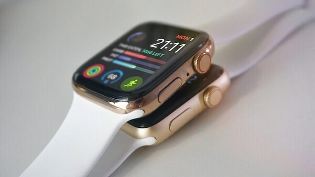 Both types of Apple Watches.