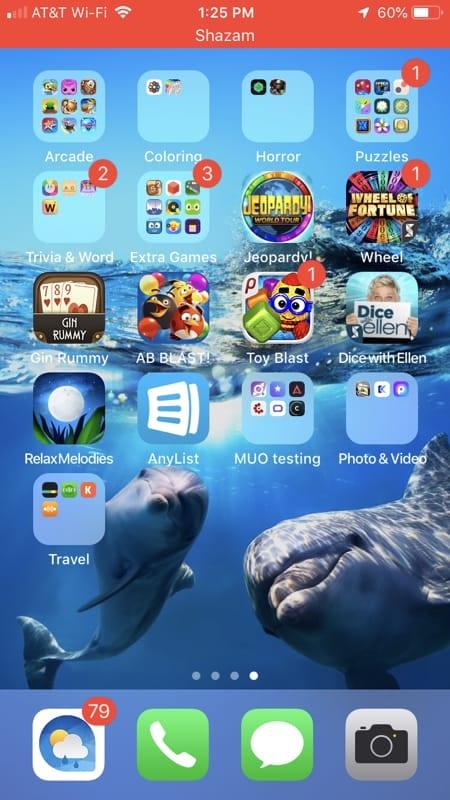 Auto Shazam red bar on iPhone