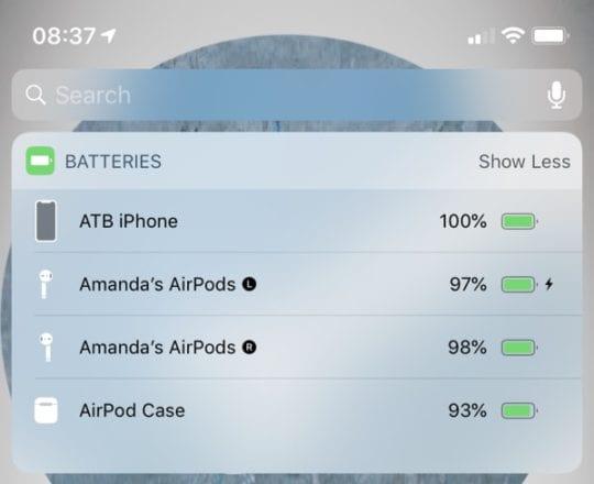 Batteries Widget AirPods