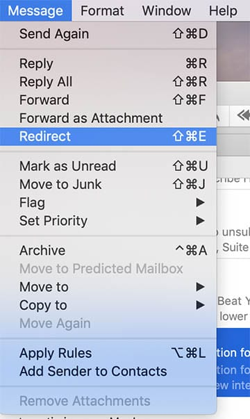 Apple Mail Tips - Redirect