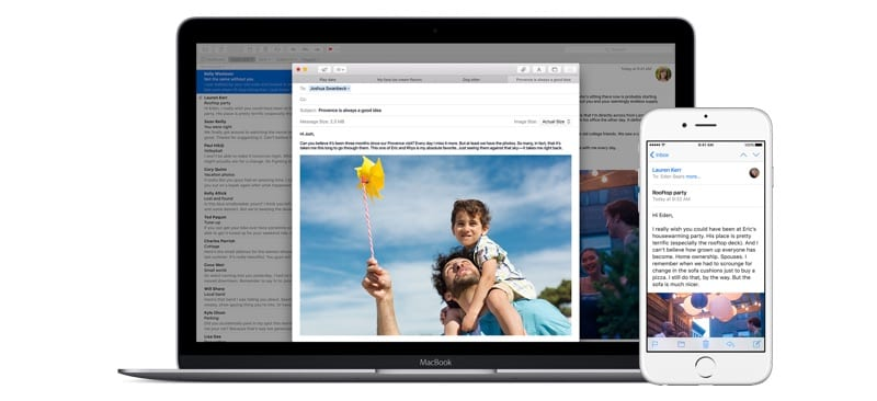 Mail on iOS and macOS