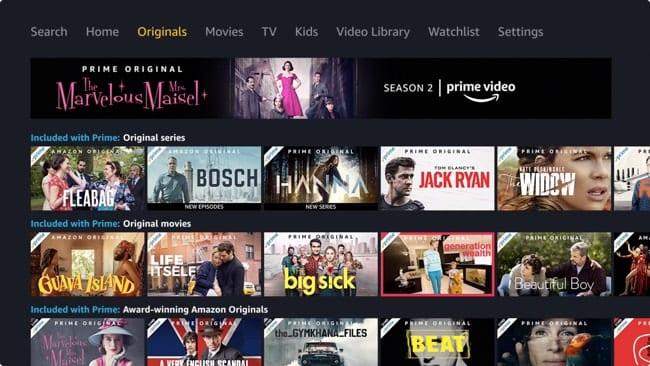 Amazon Prime Video Originals on Apple TV