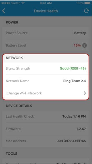 Ring Troubleshooting - Device Health