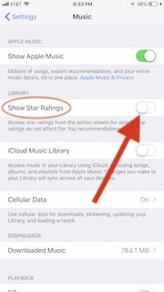 Enable Star ratings on your iPhone
