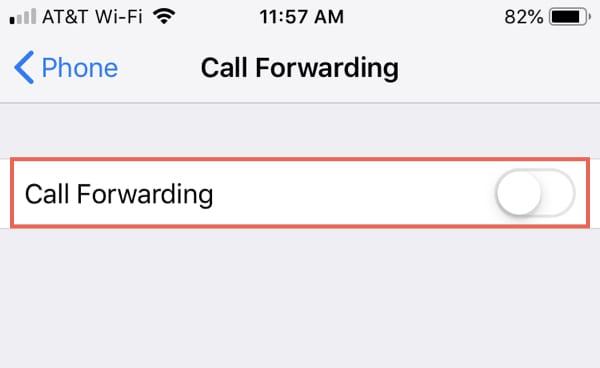 Disable CallF orwarding