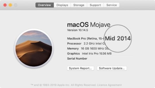 About this Mac release year