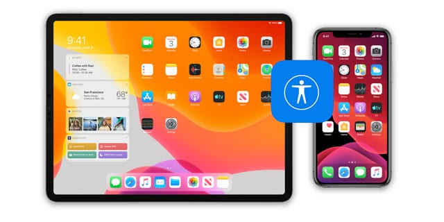 accessibility settings app icon in setting menu on iOS 13 and iPad OS 13