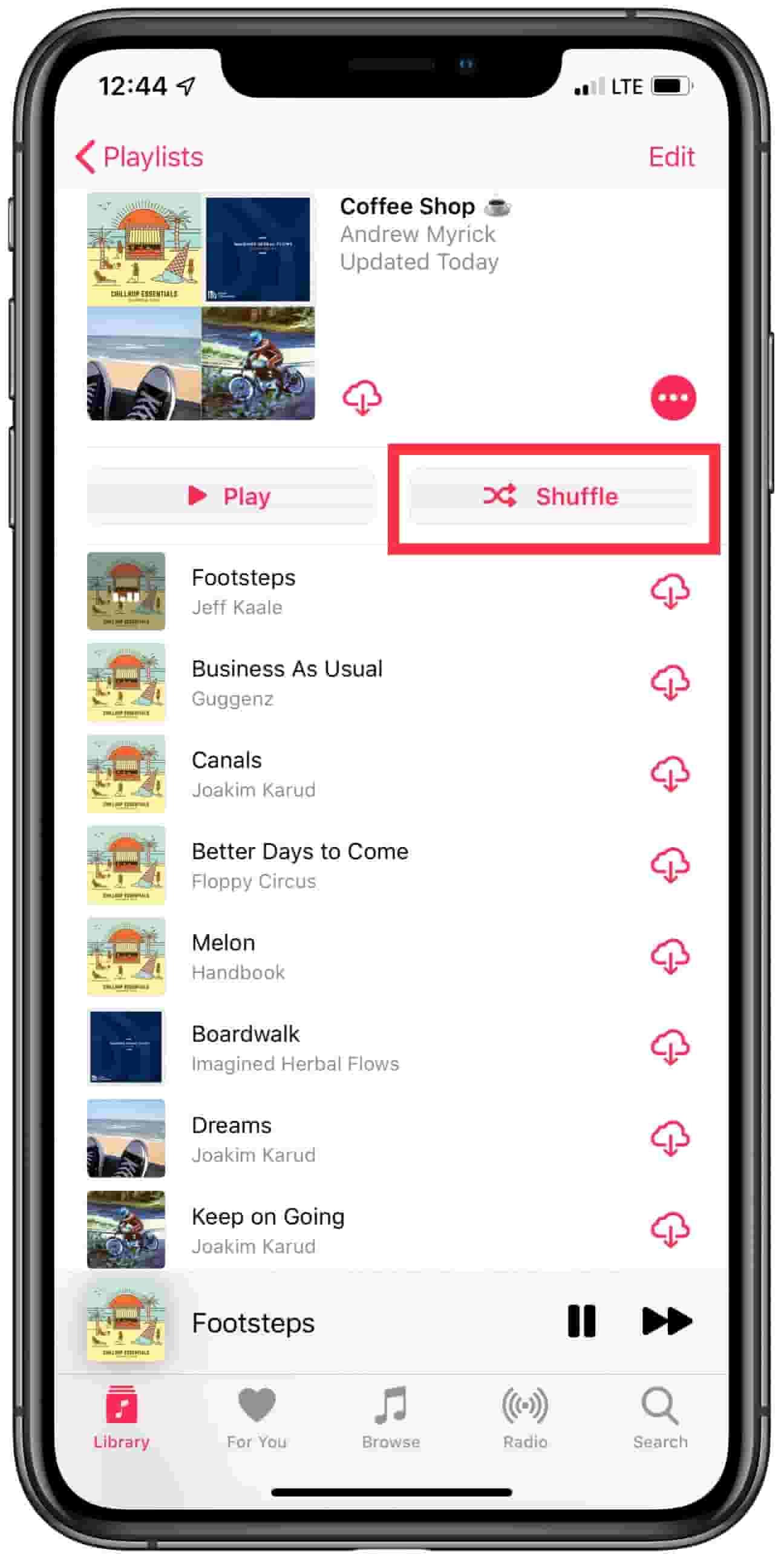 Apple Music Shuffle 1