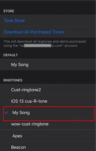 Assign Custom Ringtone from macOS Catalina to contact