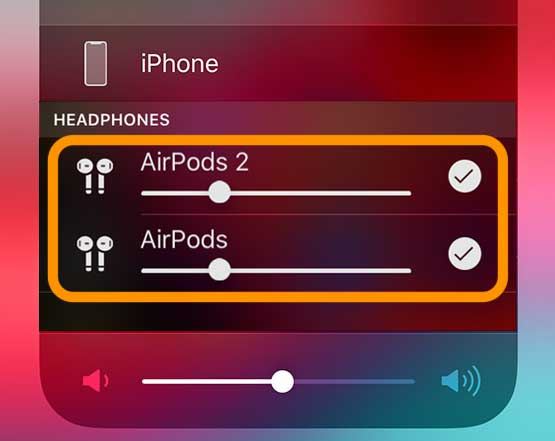 audio sharing controls for AirPods iOS 13 and iPadOS