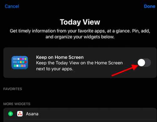 How to Disable widgets on iPad Home Screen