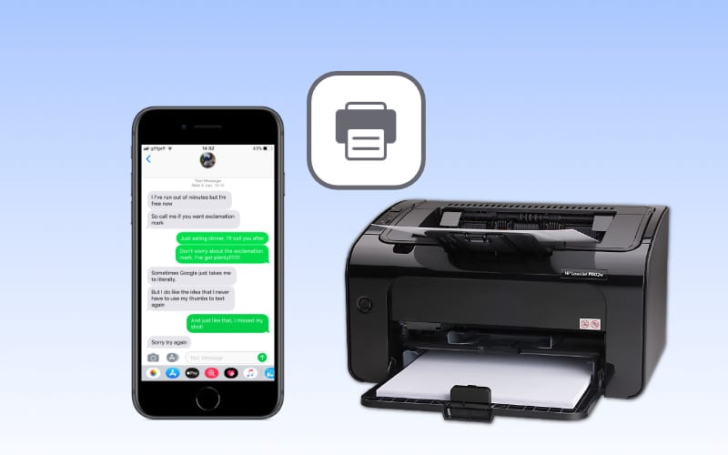 Find out how to print text messages from an iPhone