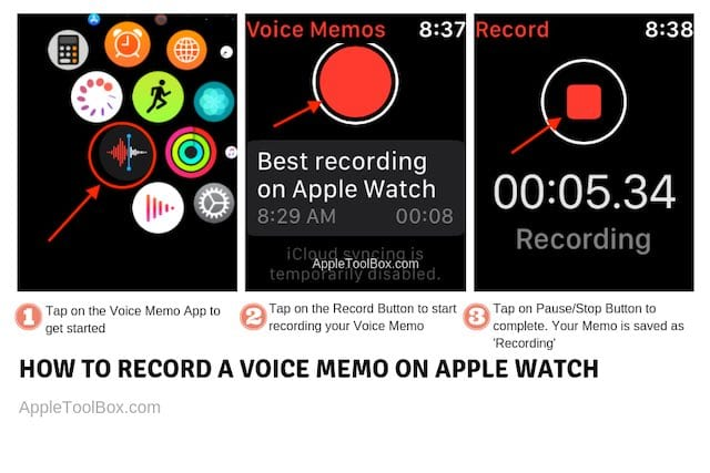 Create a Voice memo on Apple Watch with 3 easy steps