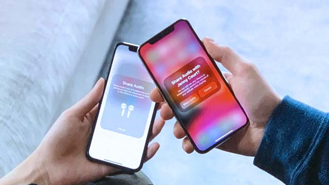 audio sharing iPhones and AirPods iOS 13