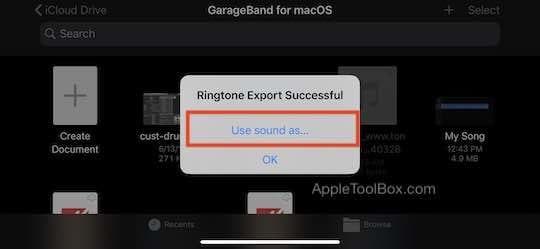 Assign RingTone type