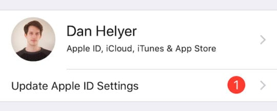 Update Apple ID settings
