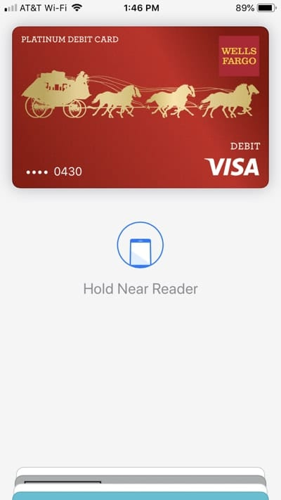 Hold iPhone near terminal to pay