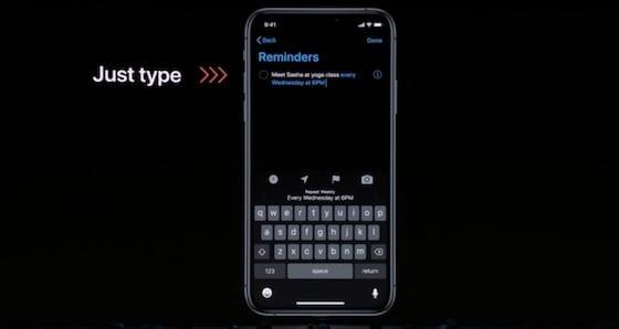 iOS 13 - Reminders