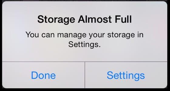 iOS 13 - Storage
