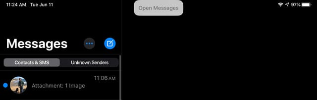 voice control command to open messages