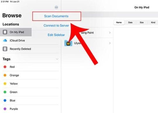iPadOS Files - Scan Docs