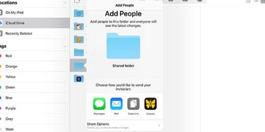 iPadOS Files - iCloud Sharing