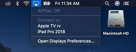 connect to iPad with AirPlay and sidecar