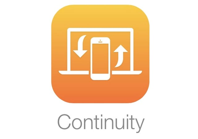 continuity feature on Apple devices and Macs