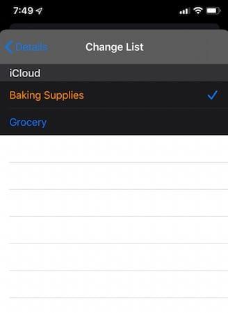 Modify reminder item properties in reminders app iOS 13