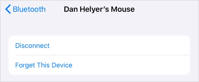 Disconnect your Bluetooth mouse if it is not working with your iPad or iPhone