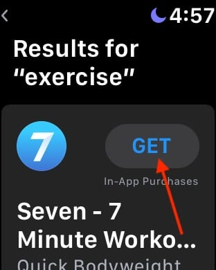Install app from app store on apple watch