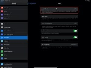 Open AssistiveTouch in iPadOS