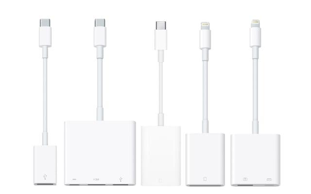 Range of Apple adapters