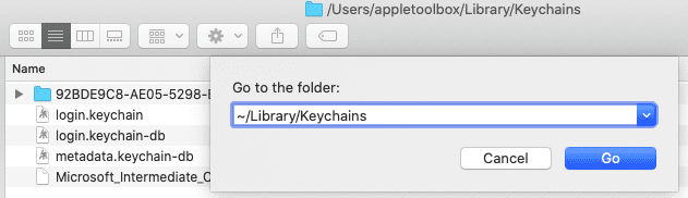 Remove corrupted iCloud keychain from macOS Catalina