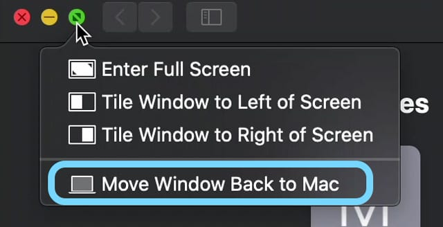 move your iPad's Sidecar window back to your Mac