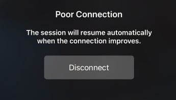 Seeing poor connection error on iPad when using Sidecar