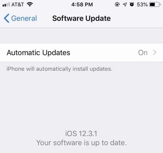 Slow iPhone - Software Update