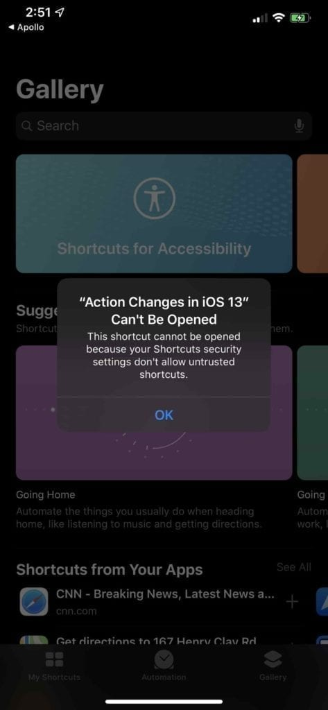 Untrusted Source Shortcuts