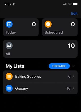 Moving multiple reminder items to new list in iOS 13 and iPadOS