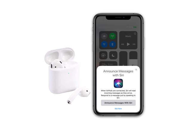 AirPods and announce messages with Siri