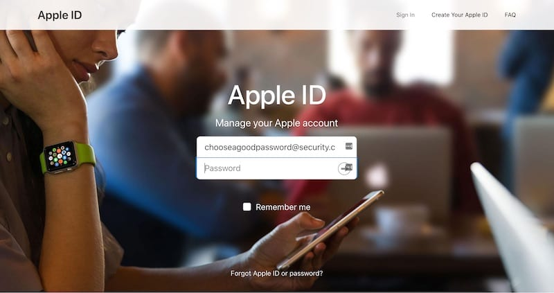 Apple ID Security - Password