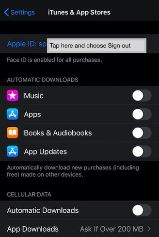 Apple Watch Sign in to Purchase message