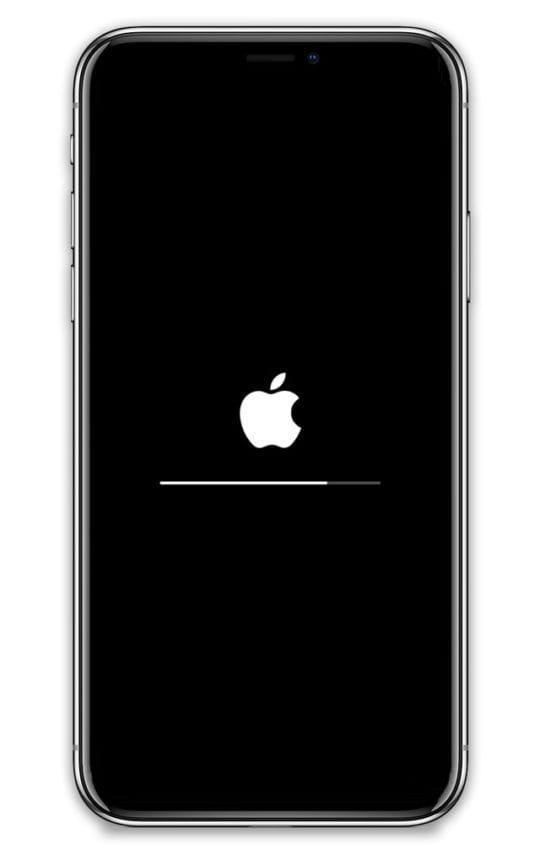 stuck on apple logo after iOS update