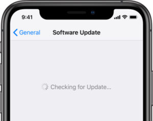 Checking for iOS Software Update on iPhone XS