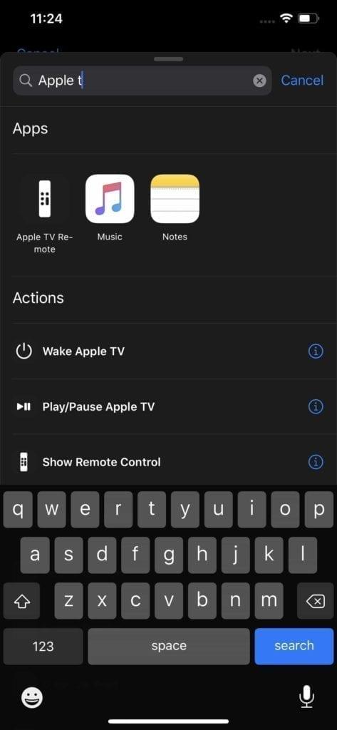 Control Apple TV Shortcuts 6