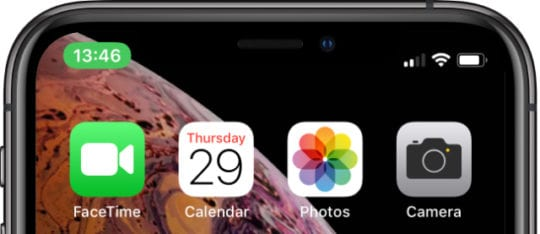 FaceTime green bubble on iPhone XS
