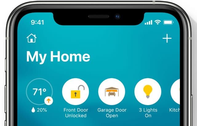 Home app status icons