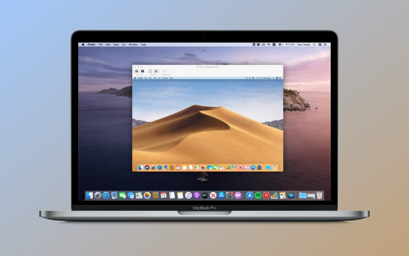 How do I share my Mac's screen with another Mac?