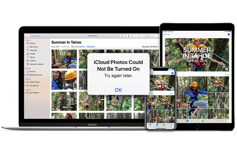 "How to fix the error ""iCloud Photos Could Not Be Turned On"""