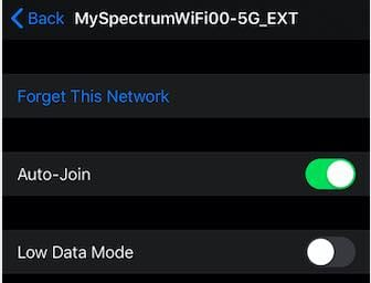 iOS 13 Wi-Fi Low Data Mode